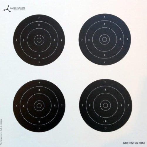 Air Pistol Card Target 17cm 1