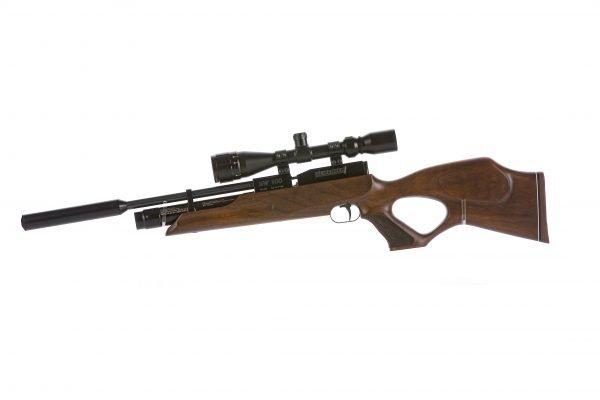Weihrauch HW100 KT Thumbhole PCP Air Rifle Walnut 2