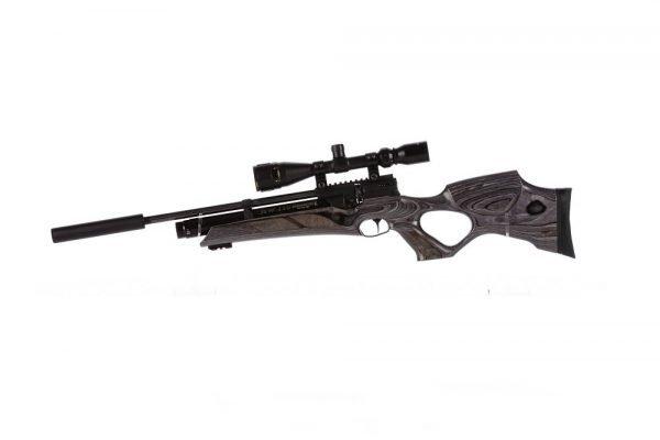 Weihrauch HW110 T Tombhole Grey Laminate PCP Air Rifle 1