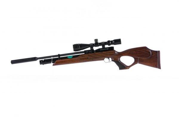 Weihrauch HW100 T Thumbhole PCP Air Rifle Range 1