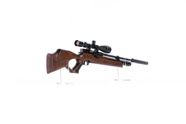 Weihrauch HW100 T Thumbhole PCP Air Rifle Walnut 3