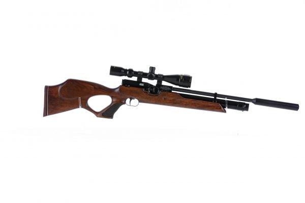 Weihrauch HW100 T Thumbhole PCP Air Rifle Walnut 2