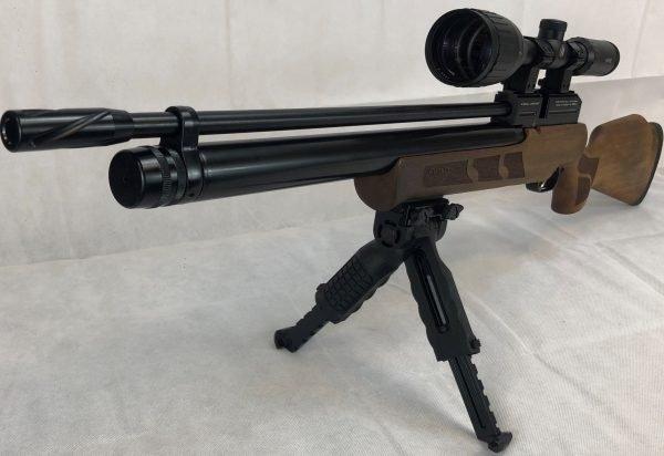 Kral Puncher Maxi PCP Air Rifle Walnut Package, Hawke Scope, Bi-Pod, Case & Pellets 3