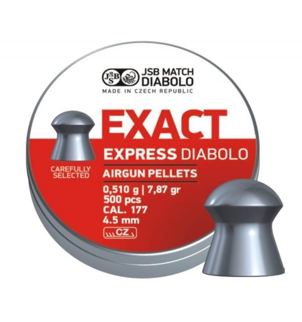 JSB Jumbo Express Diabolo Pellet .177 7.87 gr (500) 1