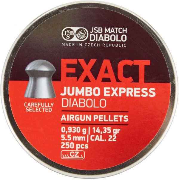 JSB Jumbo Express Diabolo Pellet .22 14.35 gr (250) 1