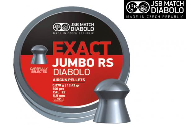 JSB Exact Jumbo RS Pellet .22 13.43 gr 1