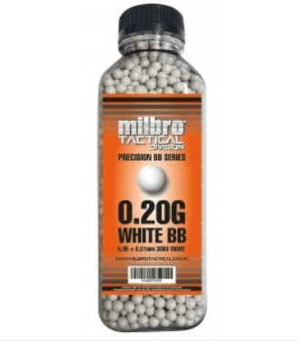 Milbro 0.20 6mm White BB's (3000) 1