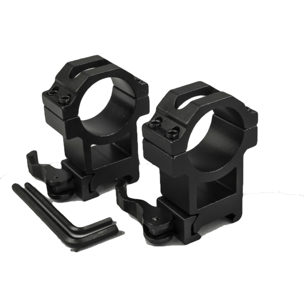 Quick Release High Two Piece Double Screw Weaver Mounts 1