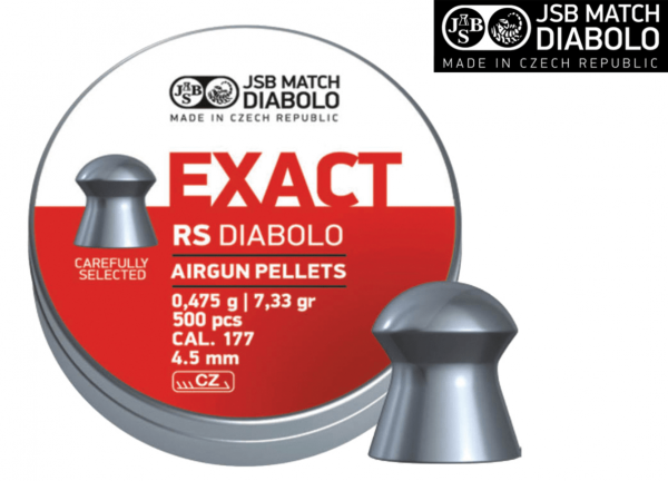 JSB RS Diabolo Pellet .177 7.33 gr 1