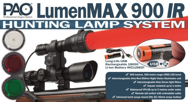 PAO LumenMAX 900 IR Hunting Lamp System With Filters 4